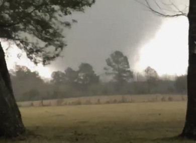 Photo provided by Heather Welch shows a tornado in Rosepine, Louisiana.