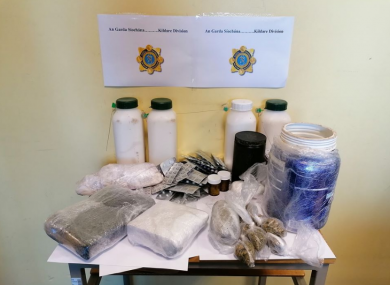 An image of the drugs seized