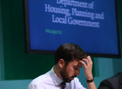 Housing Minister Eoghan Murphy is facing a motion of no confidence this evening.