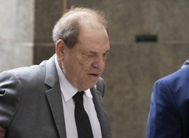Harvey Weinstein arriving in court in New York today.