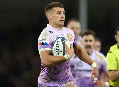 Henry Slade in action for Exeter Chiefs.