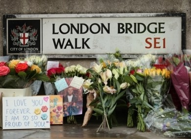 Tributes for victims of the terrorist attack in London.