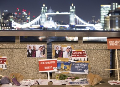 Tributes to the victims of the attack.