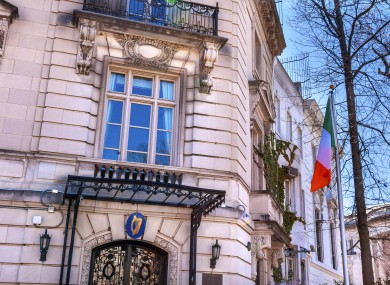 Irish embassy in Washington, USA.