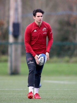 Carbery in training earlier this month.