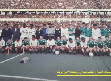 Players from Bohemians, Saint Pat's and Al-Ahly Benghazi ahead of kick-off.