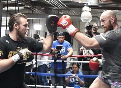 Tyson Fury with former trainer Ben Davison.