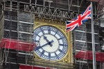 The British flag flies on front of Big Ben.