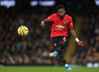 Manchester United's Fred was targeted by the abuse.