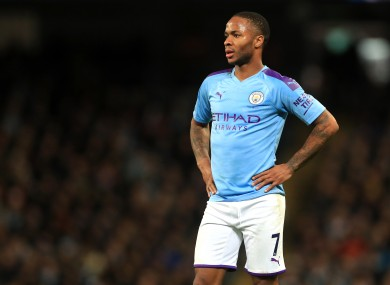 Manchester City's Raheem Sterling (file pic)