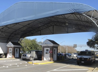 File photo of the entrance to the naval base in Florida where the incident took place