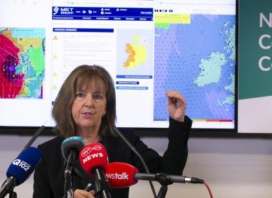 Head of Forecasting at Met Éireann Evelyn Cusack.