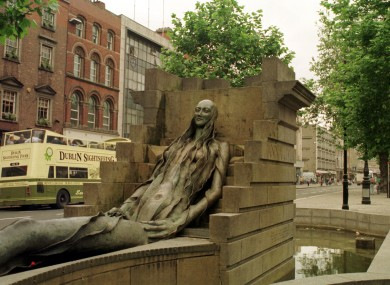 The mall was to be located beneath the Anna Livia fountain on Dublin's O'Connell Street