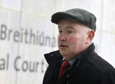 Patrick Quirke at the Criminal Courts of Justice during his trial