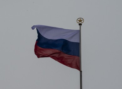 The Russian flag (file pic).