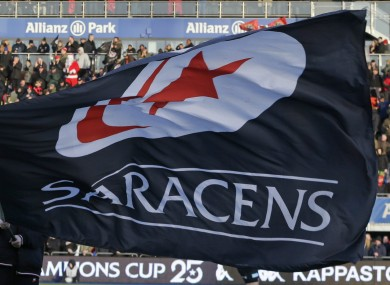 Saracens are champions of England and Europe.