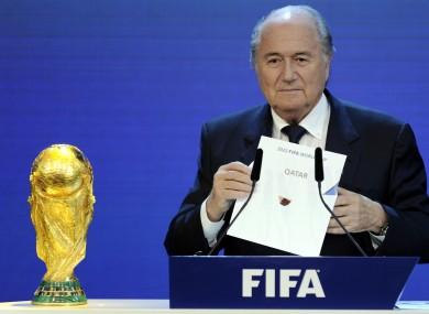 Former Fifa president Sepp Blatter.