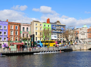 File photo of Dublin city centre.