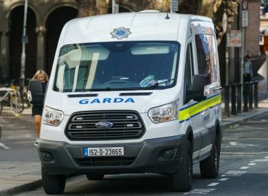 File photo of garda van.
