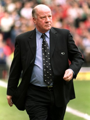 Smith managing Derby County in 2001.