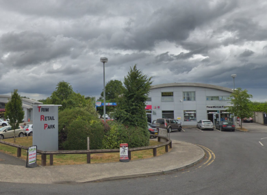 The entrance to Trim Retail Park where the incident took place.