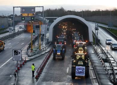 Formers leave the Port Tunnel and head for the M50.
