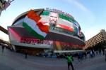 A Conor McGregor fan outside the T-Mobile Arena in Las Vegas.