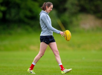 Áine Tighe at the CrossCoders AFLW camp last May.