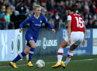 Sophie Ingle scored a screamer for Chelsea, while Ireland captain Katie McCabe (15) featured for Arsenal.
