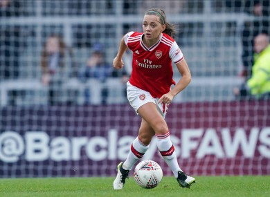Arsenal and Ireland star Katie McCabe (file pic).