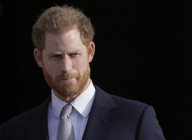 Britain's Prince Harry, the Duke of Sussex.