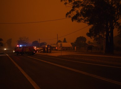 The small village of Bodalla descends into almost darkness at 6.30pm, south of Batemans Bay,