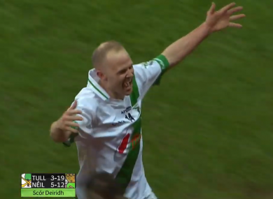 Tommy Walsh celebrates at full-time.