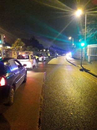 A checkpoint carried out in relation to the investigation earlier this week.