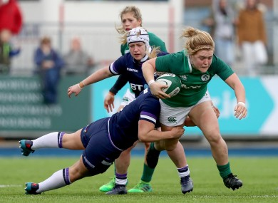 Moloney on the run against Scotland in 2018.