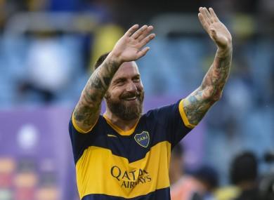 Daniele De Rossi during his time at Boca Juniors.