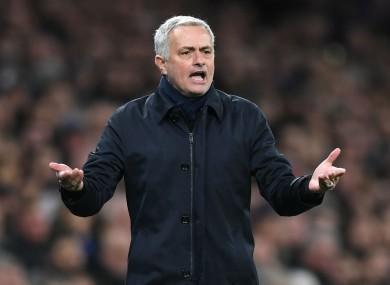Tottenham boss Jose Mourinho.