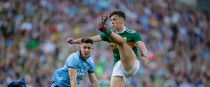 David Clifford scores a point past Dublin's David Byrne in last year's All-Ireland final replay.