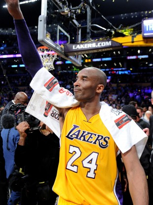 RIP: Kobe Bryant after his final game.