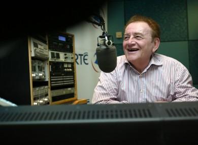 Gogan in RTÉ studios.
