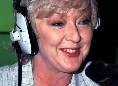Marian Finucane pictured in studio in 1996.