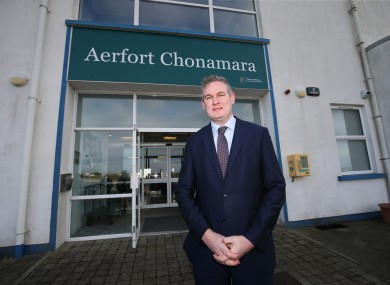 Minister of State Seán Kyne outside the airport.