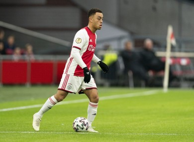 Sergino Dest in action for Ajax.