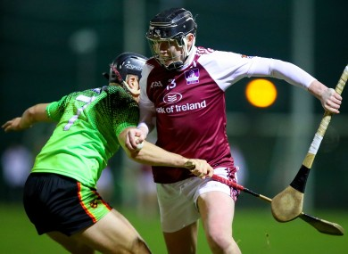 Niall Brassil of IT Carlow (left) with Michael Lynch of NUIG.