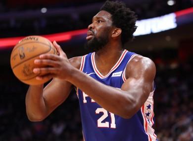 Philadelphia 76ers star Joel Embiid.