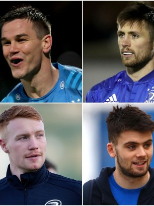 Johnny Sexton, Ross Byrne, Ciaran Frawley and Harry Byrne have all featured at out-half for Leinster this season.