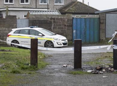 Gardaí working at one area following Keane Mulready-Woods' murder.