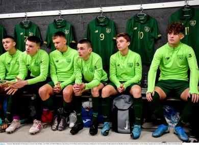 Members of the Ireland U15s team.