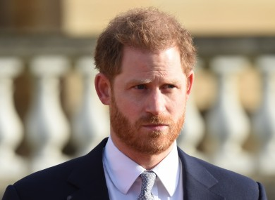 The Duke of Sussex in the Buckingham Palace gardens.
