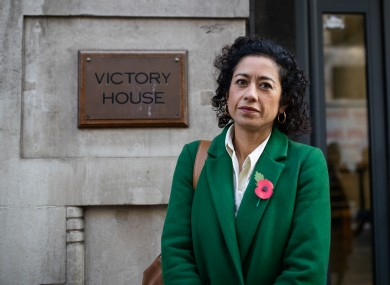 Journalist Samira Ahmed arrives at the Central London Employment Tribunal